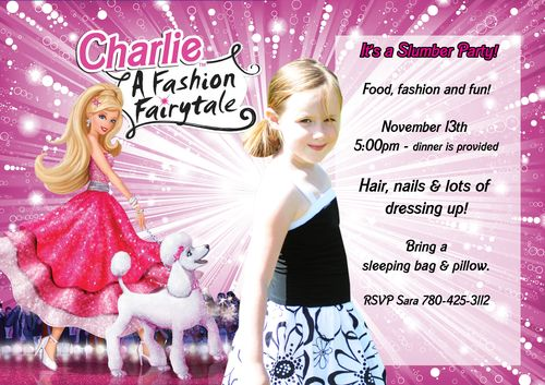 Charlie barbie invite