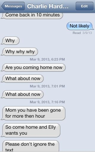 Char text